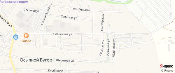 Цветочная 1-я улица на карте Астрахани с номерами домов
