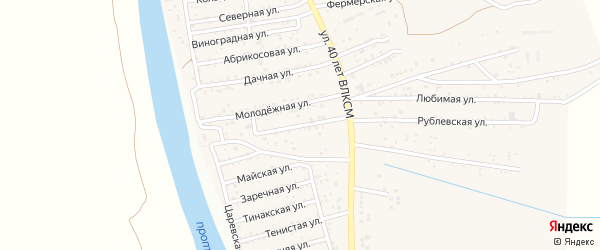 2-я Молодежная улица на карте поселка Кирпичного Завода N1 с номерами домов