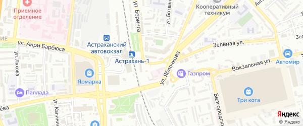 Красноармейская 3-я улица на карте Астрахани с номерами домов