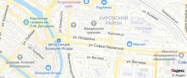 Улица Всеволода Ноздрина на карте Астрахани с номерами домов