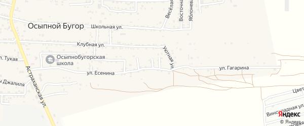 Уютный 2-й переулок на карте села Осыпного Бугра с номерами домов