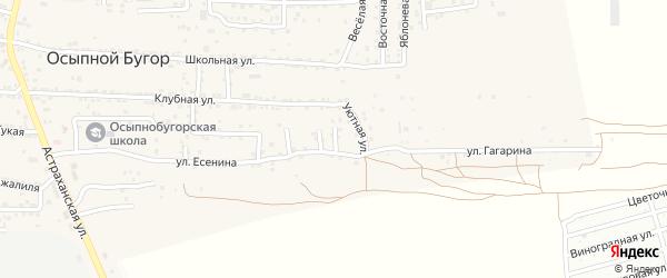Уютный 3-й переулок на карте села Осыпного Бугра с номерами домов