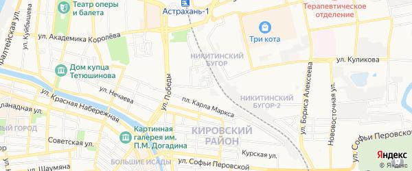 ГСК N3 на карте улицы Куликова с номерами домов