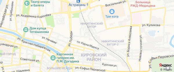 ГСК N2 на карте улицы Куликова с номерами домов