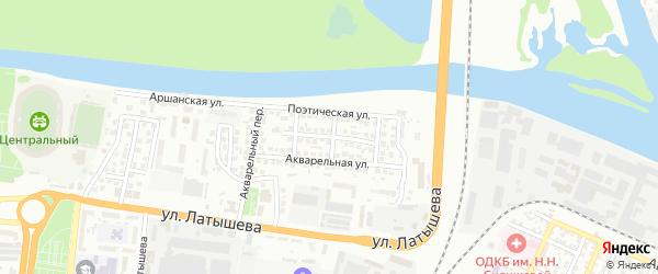 Романтическая улица на карте Астрахани с номерами домов
