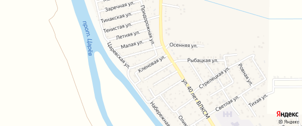 Кленовая улица на карте поселка Кирпичного Завода N1 с номерами домов