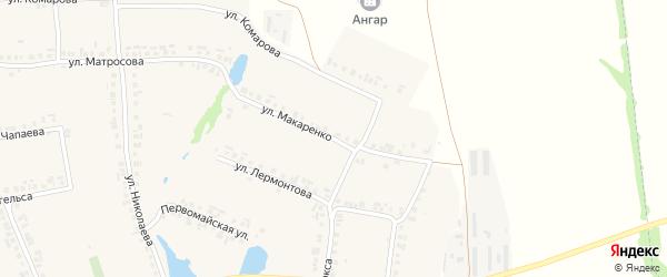 Улица Макаренко на карте села Большие Яльчики с номерами домов