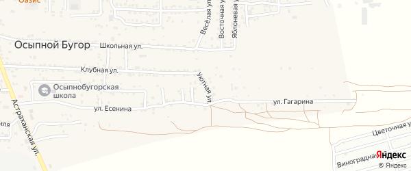 Уютная улица на карте села Осыпного Бугра с номерами домов