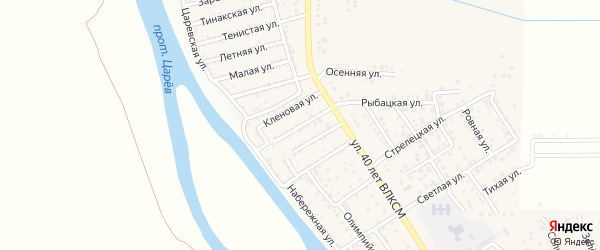 Цветочная улица на карте поселка Кирпичного Завода N1 с номерами домов