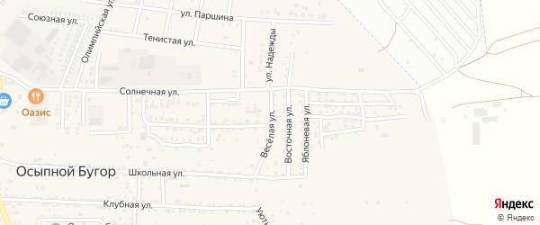 Веселая улица на карте села Осыпного Бугра с номерами домов