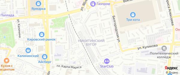 Улица Генерала Герасименко на карте Астрахани с номерами домов