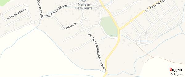 Садовая улица на карте села Уллу-Теркеме с номерами домов