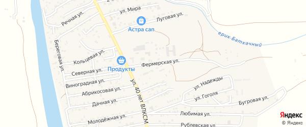 Фермерская улица на карте села Осыпного Бугра с номерами домов