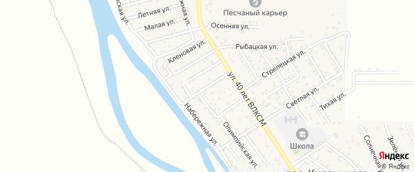 Нукусская улица на карте поселка Кирпичного Завода N1 с номерами домов