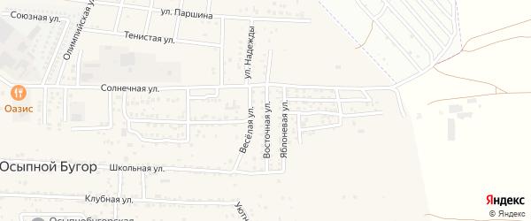 Восточная улица на карте села Осыпного Бугра с номерами домов