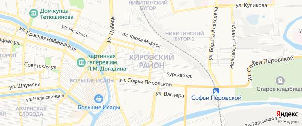 Никитинский ГСК на карте улицы Генерала Герасименко с номерами домов