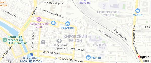 Улица Рылеева на карте Астрахани с номерами домов