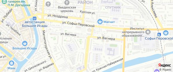 Улица Вагнера на карте Астрахани с номерами домов