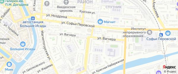 Улица Валерии Барсовой на карте Астрахани с номерами домов