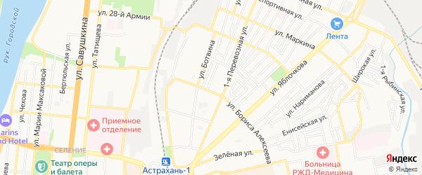 ГСК N9 Трикотажник на карте улицы Бориса Алексеева с номерами домов