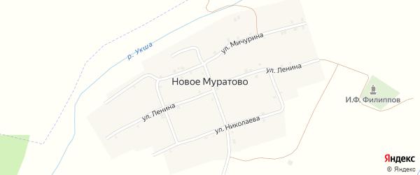 Садовая улица на карте деревни Новое Муратово с номерами домов