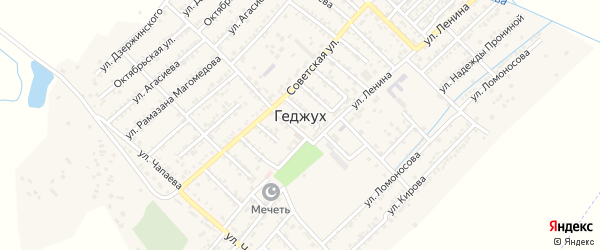 Батырая улица на карте села Геджуха с номерами домов