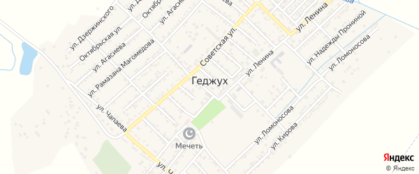 Улица Гагарина на карте села Геджуха с номерами домов