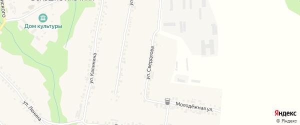 Улица Свердлова на карте села Большие Яльчики с номерами домов
