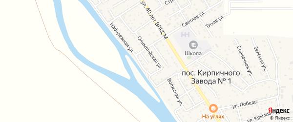 Узенький переулок на карте поселка Кирпичного Завода N1 с номерами домов
