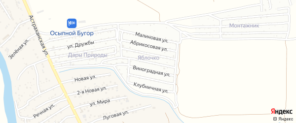 Грушевая улица на карте Астрахани с номерами домов