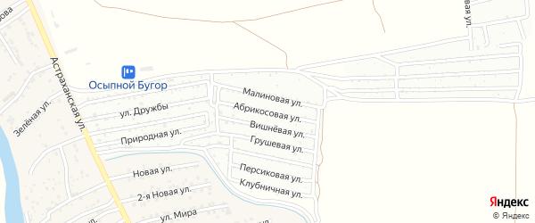 Абрикосовая улица на карте села Три Протоки с номерами домов