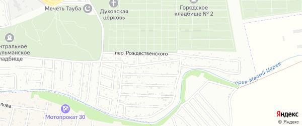 Рождественского 1-й переулок на карте Астрахани с номерами домов