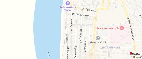 Улица Ленина на карте Камызяка с номерами домов