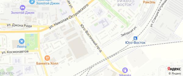 Юговосточный проезд на карте Астрахани с номерами домов