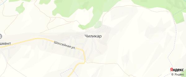 Карта села Чиликара в Дагестане с улицами и номерами домов
