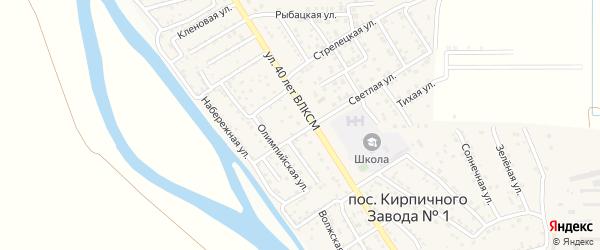 2-й Олимпийский переулок на карте поселка Кирпичного Завода N1 с номерами домов