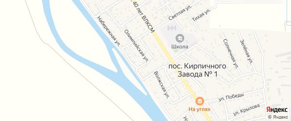Олимпийская улица на карте поселка Кирпичного Завода N1 с номерами домов
