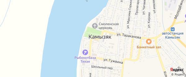 Площадь Павших Борцов на карте Камызяка с номерами домов