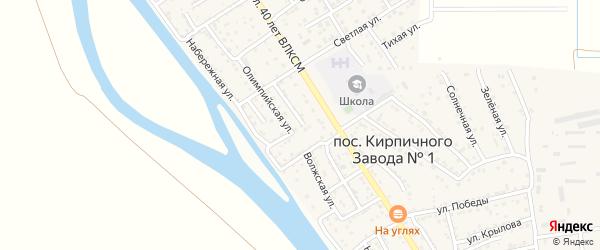 Улица Есенина на карте поселка Кирпичного Завода N1 с номерами домов