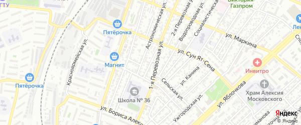 Улица Колгуева на карте Астрахани с номерами домов