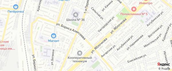Окружная улица на карте Астрахани с номерами домов