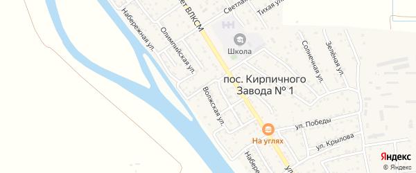 Волжская улица на карте поселка Кирпичного Завода N1 с номерами домов