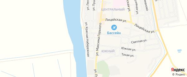 Сдт Южное СТ на карте улицы Пушкина с номерами домов