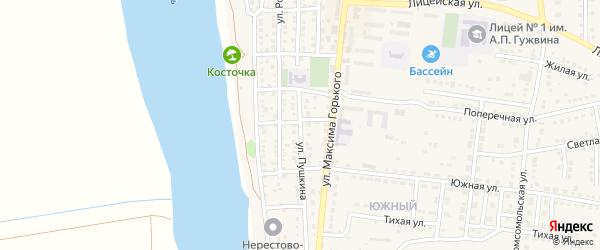 Улица Пушкина на карте Камызяка с номерами домов