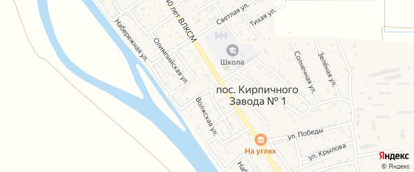 Бакинский переулок на карте поселка Кирпичного Завода N1 с номерами домов