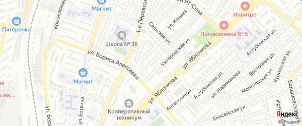 Кольцевая улица на карте Астрахани с номерами домов