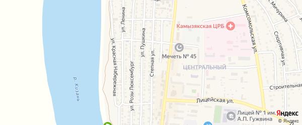 Степная улица на карте Камызяка с номерами домов