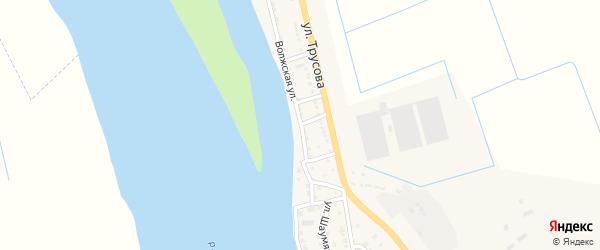 Волжская улица на карте Камызяка с номерами домов