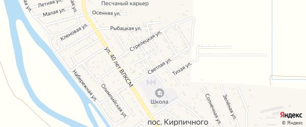 Рождественская улица на карте поселка Кирпичного Завода N1 с номерами домов