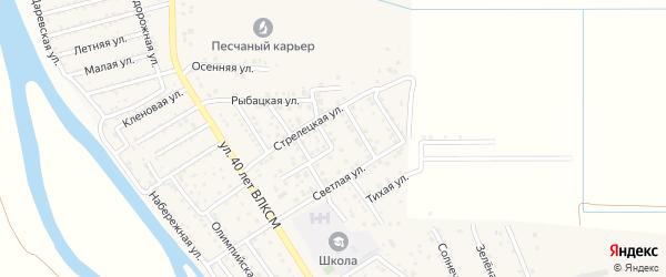 Центральная улица на карте поселка Кирпичного Завода N1 с номерами домов
